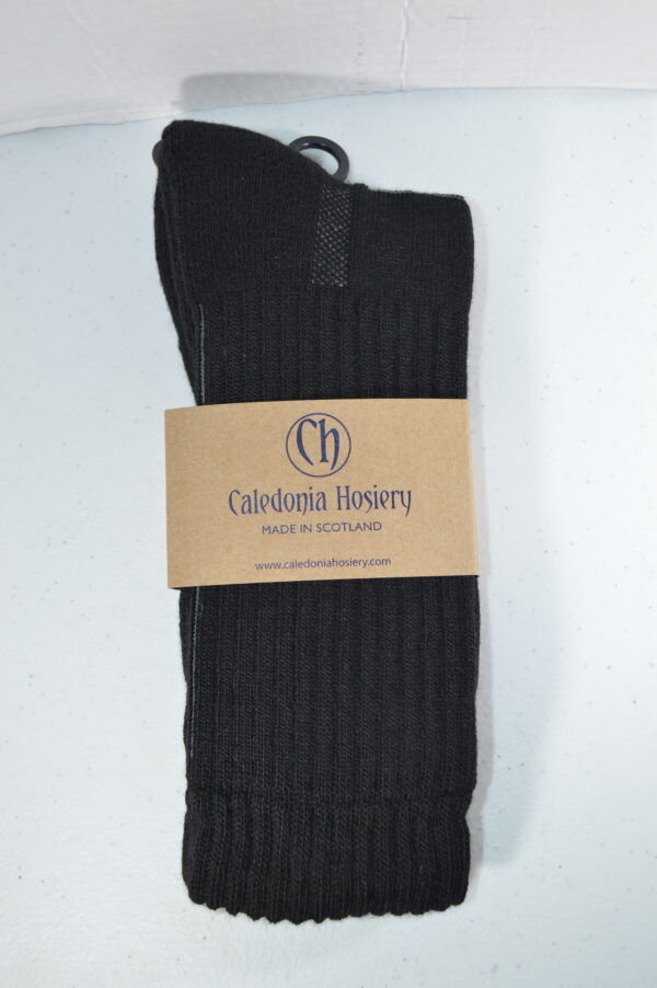 Black Walking Sock, crew style